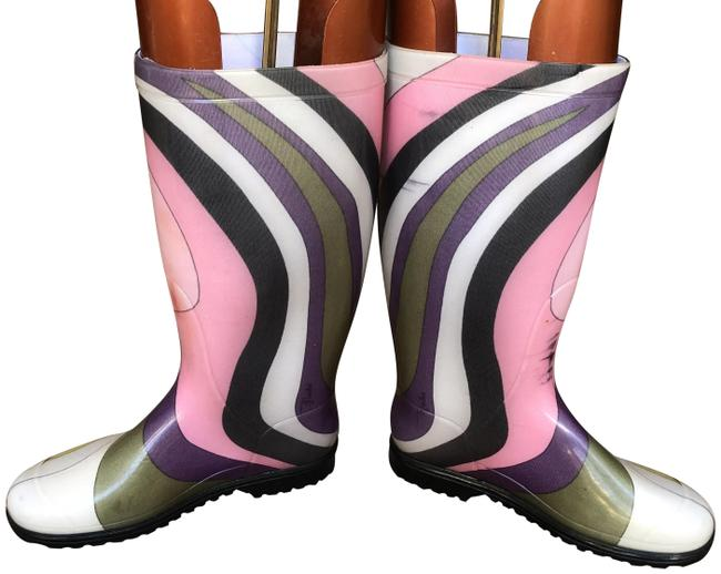 Item - Multicolored Swirl Print Boots/Booties Size EU 37 (Approx. US 7) Regular (M, B)