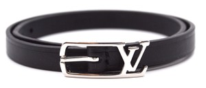 Louis Vuitton silver LV logo hardware double tour bracelet size 19