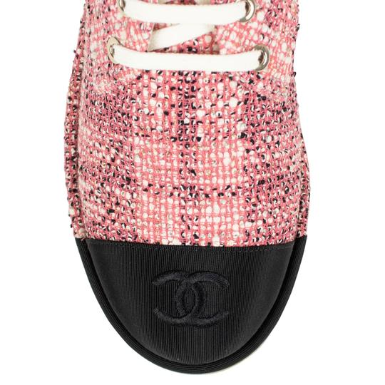 Chanel Cap Toe Tweed Pink Boots Image 2