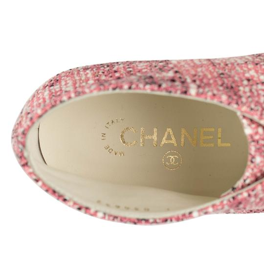 Chanel Cap Toe Tweed Pink Boots Image 3