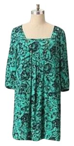 Anthropologie short dress green and black on Tradesy