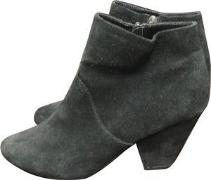 DV by Dolce Vita Suede Western Cuban Ankle Black Boots