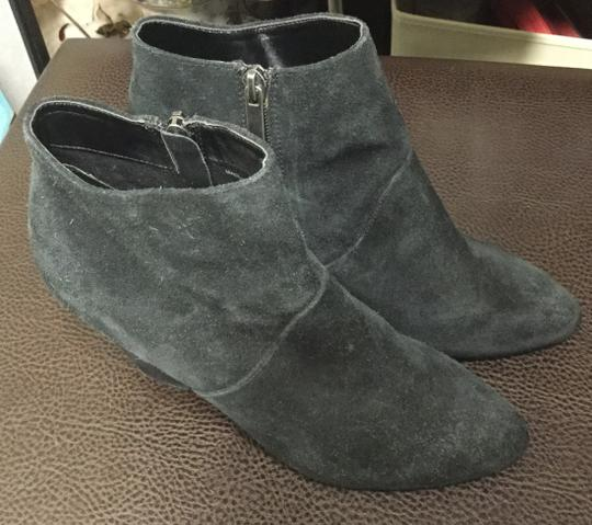 DV by Dolce Vita Suede Western Cuban Ankle Black Boots Image 2