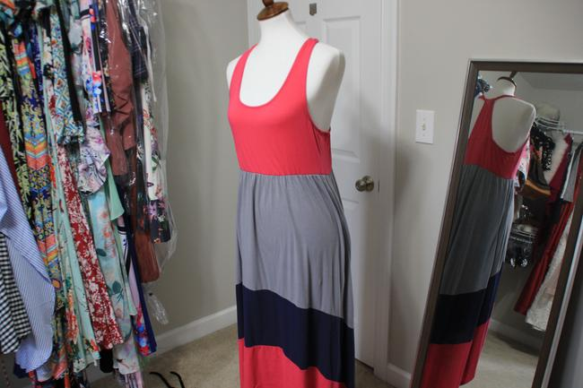 Red; Gray Maxi Dress by Mossimo Supply Co. Image 1