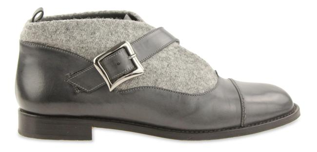 Item - Grey Melindra Tweed and Leather Boots/Booties Size EU 39 (Approx. US 9) Regular (M, B)