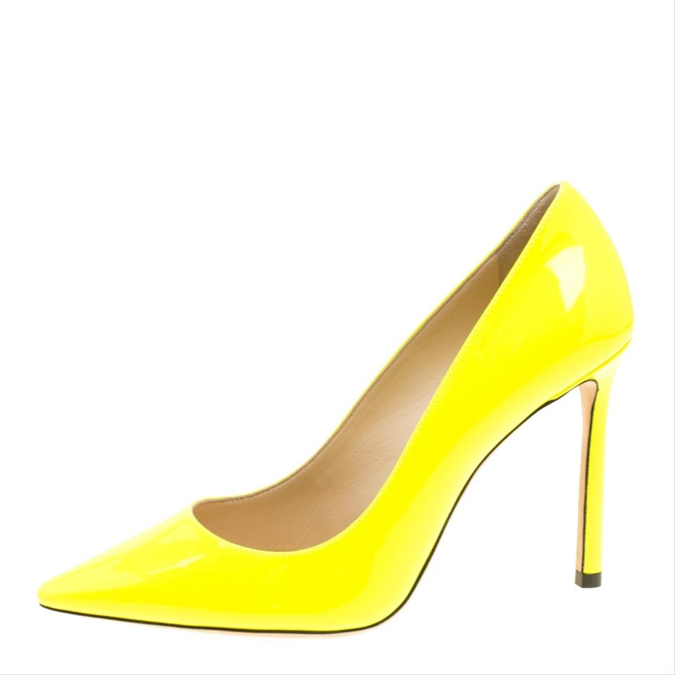 376f3cdb777 Jimmy Choo Yellow Patent Leather Romy Pointed Pumps. Size  EU 36 (Approx. US  6) ...