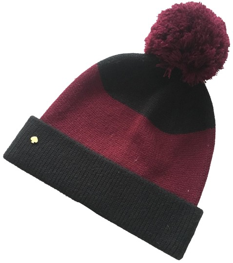 Preload https://img-static.tradesy.com/item/24830772/kate-spade-wine-and-black-color-beanie-hat-0-1-540-540.jpg