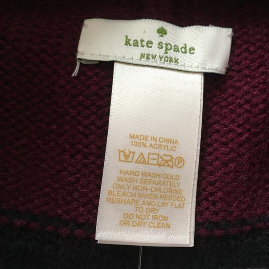 Kate Spade Color Block Wine Beanie Image 4