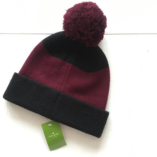 Kate Spade Color Block Wine Beanie Image 7