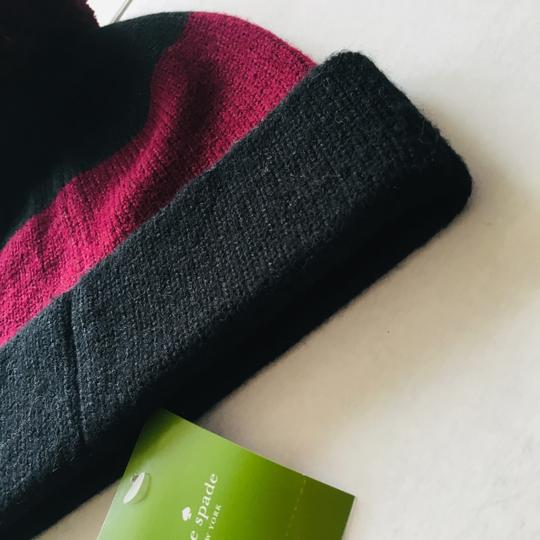 Kate Spade Color Block Wine Beanie Image 8