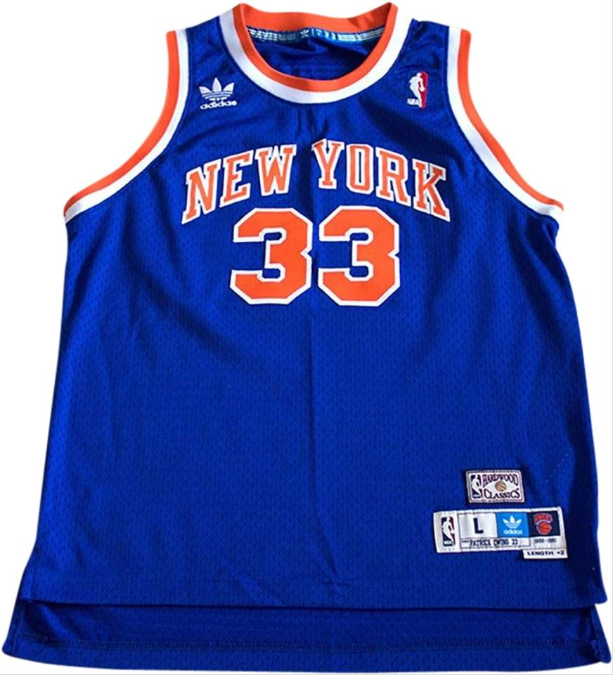 new concept a4a21 671b4 adidas Blue White Orange Jersey Vintage Knicks Basketball Patrick Ewing  (#33) Swingman Activewear Top Size 6 (S) 33% off retail