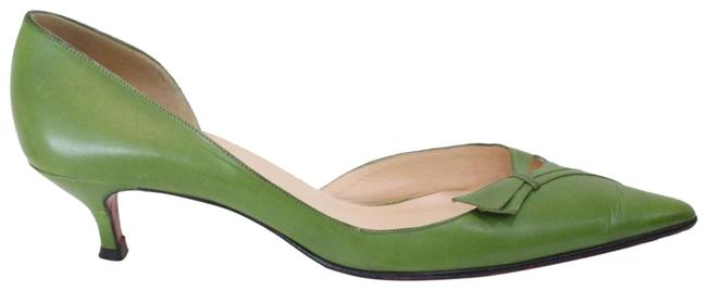 Item - Green Leather Pointed Pumps Size EU 39 (Approx. US 9) Regular (M, B)