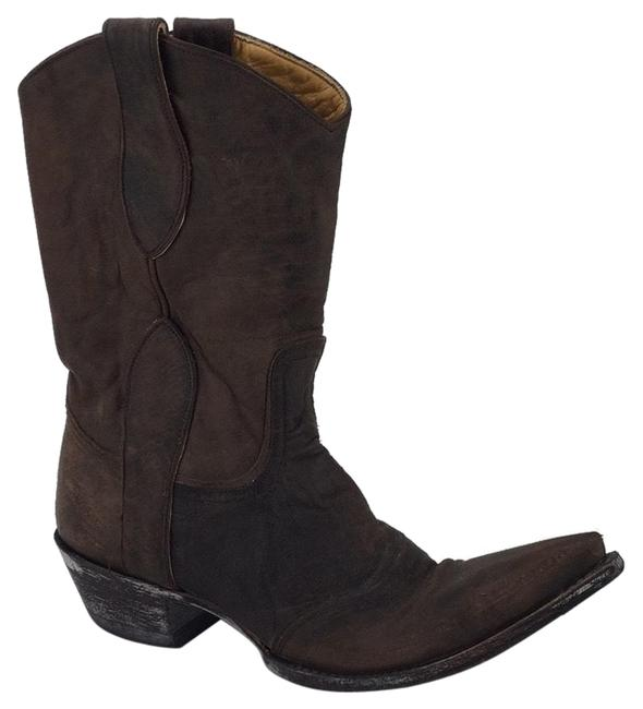Old Gringo Brown Mid-height Leather Boots/Booties Size US 8 Regular (M, B) Old Gringo Brown Mid-height Leather Boots/Booties Size US 8 Regular (M, B) Image 1