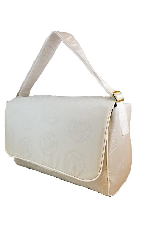 d0598635f8 Versace 97 White Tonal with Golden tone hardware Diaper Bag Image 0 ...