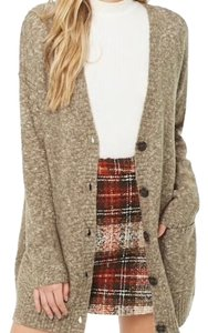 Forever 21 Marled Chunky Knit Buttons Cardigan