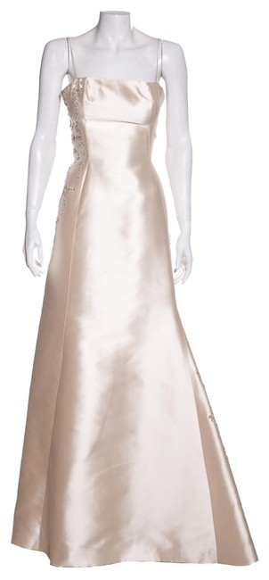 Item - Cream Embellished Gown Long Formal Dress Size 2 (XS)