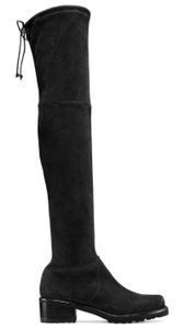Stuart Weitzman Suede Vanland Over-the-knee Black Boots