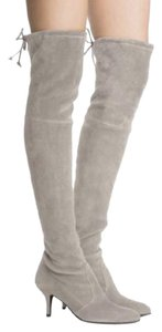 Stuart Weitzman Suede Tiemodel Over-the-knee Taupe Boots