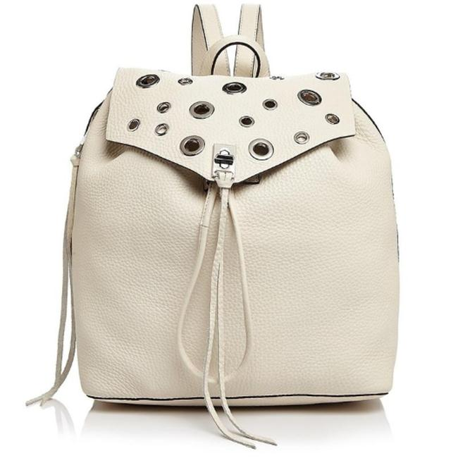 Item - New Darren with Grommets Antique White Leather Backpack