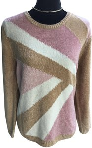 Alfred Dunner Nwot Sewn In Beading Extremely Soft Calming Colors Travels Well Sweater