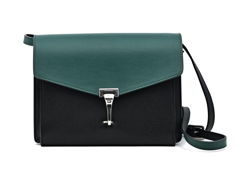 Burberry Macken Colorblock Sea Green Black Leather Cross Body Bag ... b664c3cf4094b