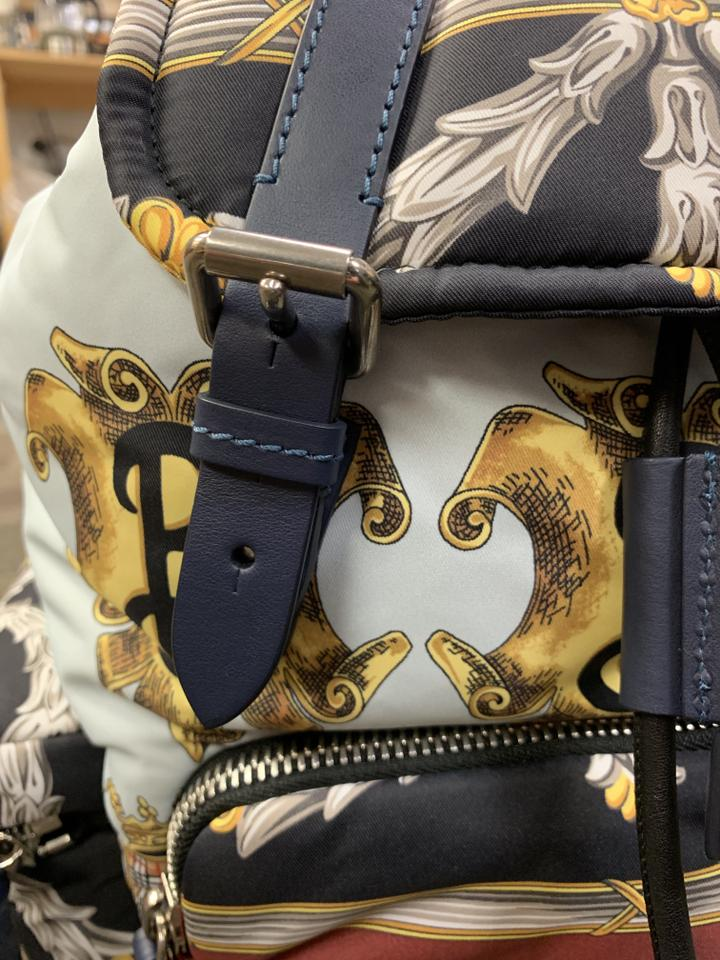 f5220b32146d Burberry The Medium Rucksack In Archive Scarf Print Ink Blue Polyamide  Backpack - Tradesy