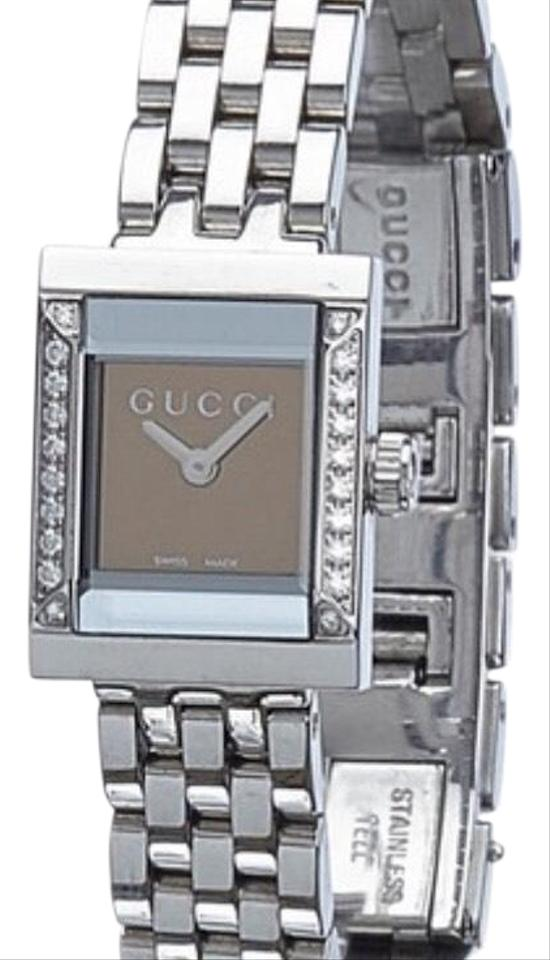11ed30299c4 Gucci 128.5 Diamond bezel watch. water resistant 3atm and stainless steel.