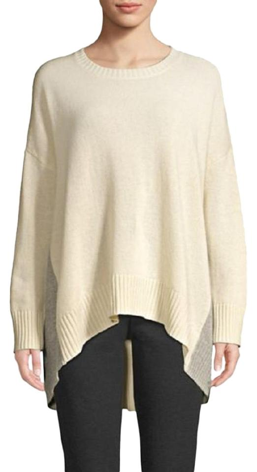 4d5aee1168324 Eileen Fisher S M Lofty Recycled Cashmere V Neck Tunic Oversize Soft ...