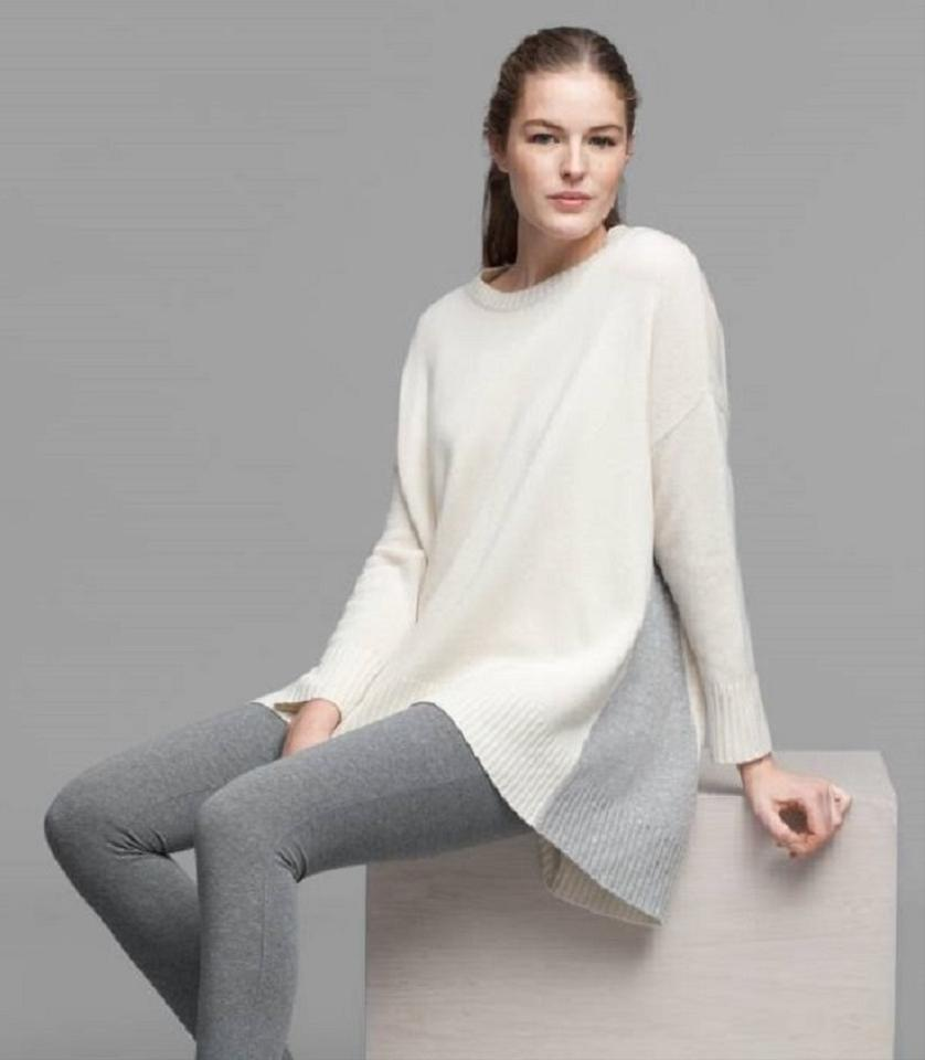 191911d258ee6 Eileen Fisher S M Lofty Recycled Cashmere V Neck Tunic Oversize Soft White  Sweater - Tradesy
