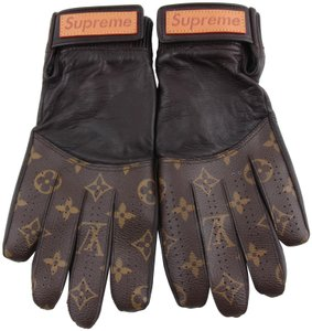 Louis Vuitton X Supreme Lambskin Monogram Baseball Gloves