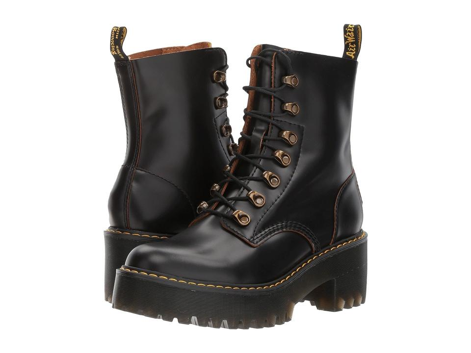 7db35cec90d4 Dr. Martens Black Leona 7 Eye Hiker Vintage Smooth Boots Booties ...