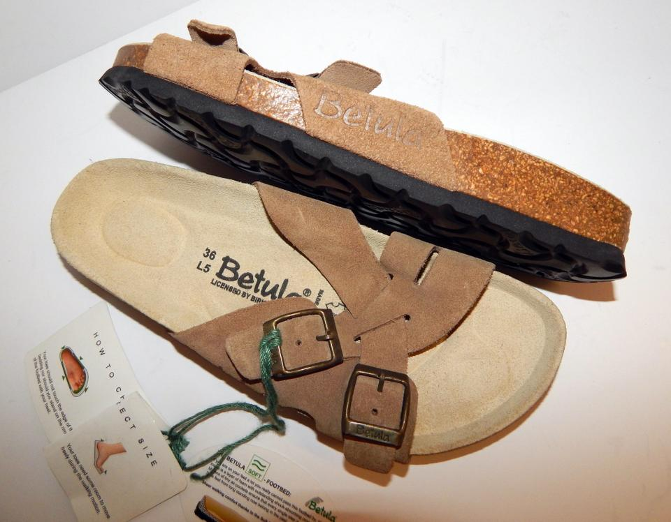 Birkenstock Brown Betula Criss Suede Leather Strappy Sandals Size EU 36 (Approx. US 6) Regular (M, B)