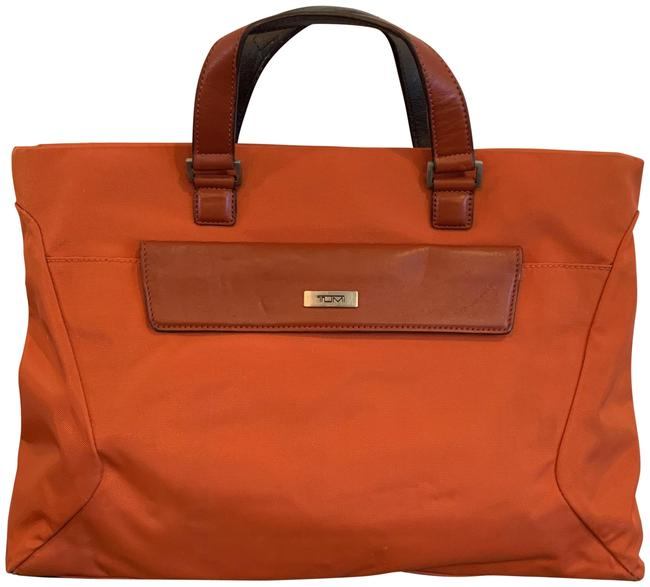 Item - Satchel M (T8) Orange Brown Nylon Laptop Bag