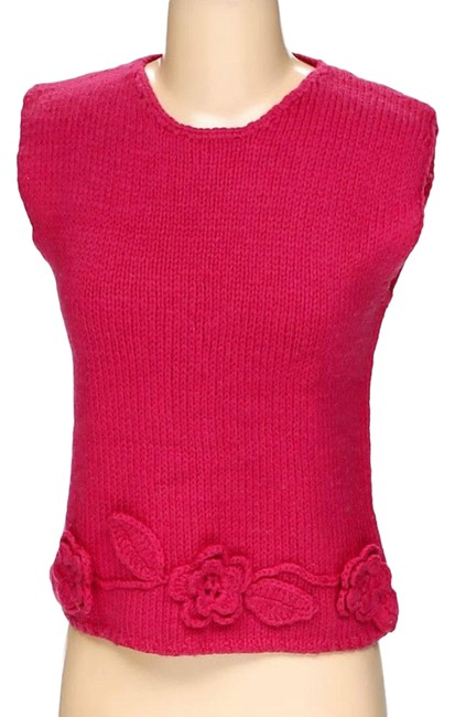 Preload https://img-static.tradesy.com/item/24833707/rqt-pink-knitted-crochet-embellished-sleeveless-blouse-size-6-s-0-1-650-650.jpg
