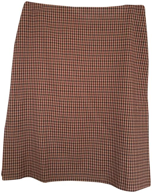 Item - Brown Check Skirt Size 4 (S, 27)