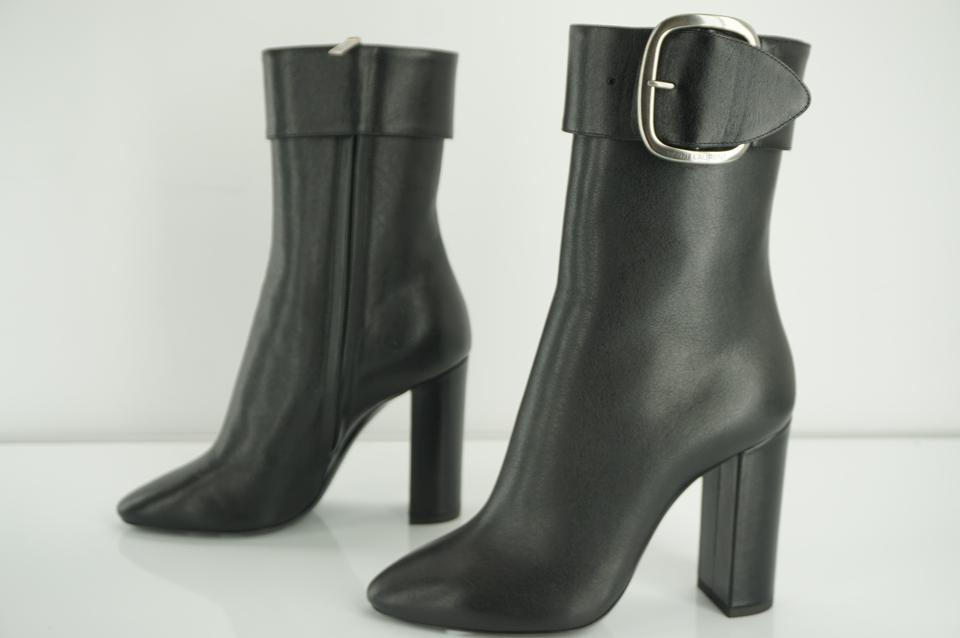 780fbae5 Saint Laurent Black Leather Joplin Tall Buckle Pointed Toe Ankle  Boots/Booties Size EU 36 (Approx. US 6) Regular (M, B) 60% off retail