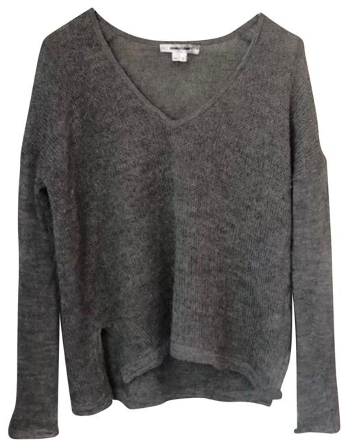 Item - Alpaca V Neck Silver Gray Sweater