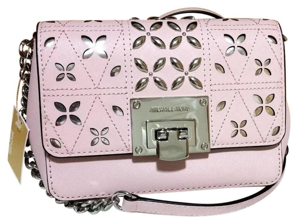 d719d6e1eae8 Michael Kors Tina Vs Sloan Xsmall Chain Stud Perforated Floral Pink ...