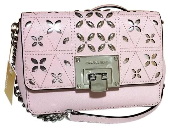 Preload https://img-static.tradesy.com/item/24834083/michael-kors-tina-vs-sloan-xsmall-chain-stud-perforated-floral-pink-embossed-leather-shoulder-bag-0-0-540-540.jpg