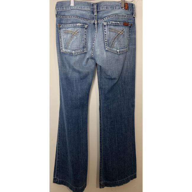 7 For All Mankind Trouser/Wide Leg Jeans-Light Wash Image 1