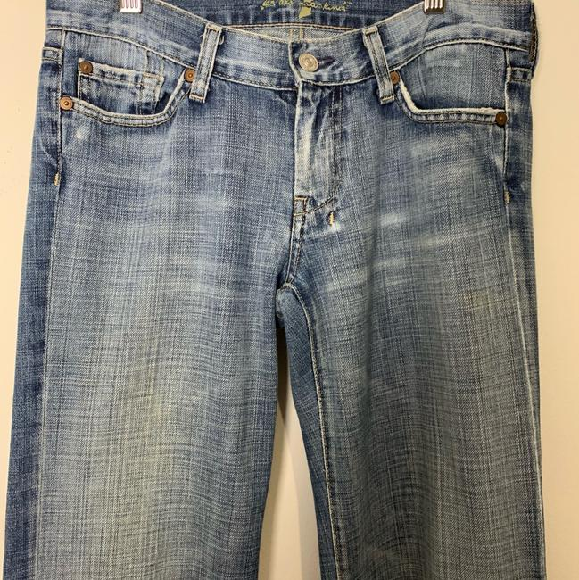 7 For All Mankind Trouser/Wide Leg Jeans-Light Wash Image 3