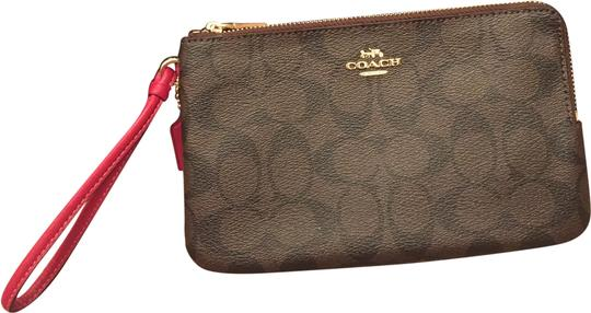 Preload https://img-static.tradesy.com/item/24834236/coach-brownhot-pink-walletwristlet-wallet-0-1-540-540.jpg