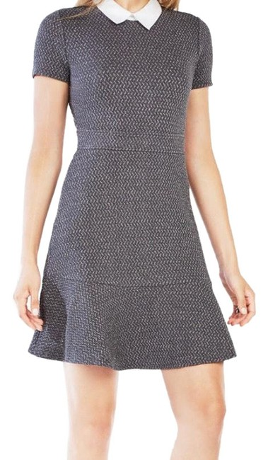 Item - Grey Sparkle with White Color Ginnie Mid-length Work/Office Dress Size 8 (M)