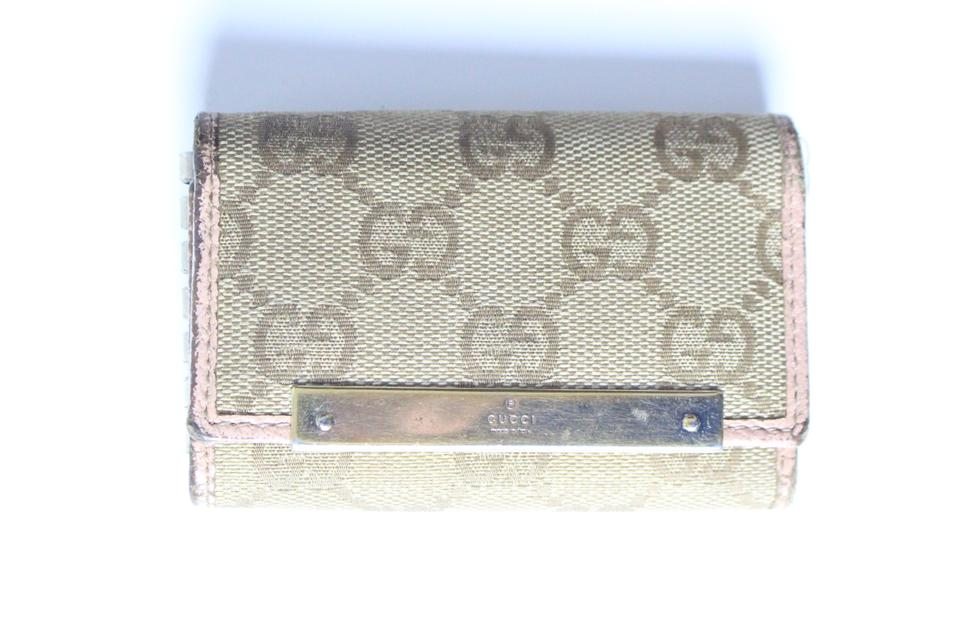 073cd028281a Gucci Pink Monogram Key Holder Wallet - Tradesy