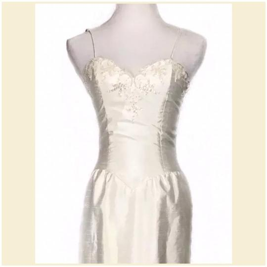 Prestige Off White Taffeta Jacketed Sequined 2pc Formal Wedding Dress Size 4 (S) Image 1