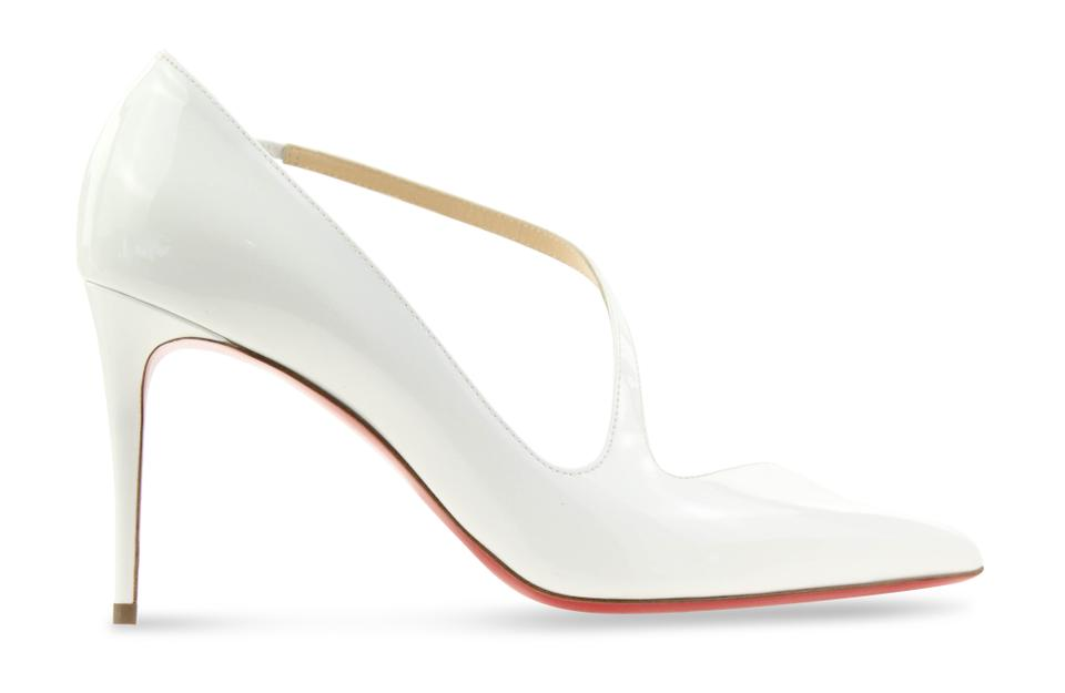 newest cb7fa a2a68 Christian Louboutin White Jumping 85 Patent Leather Pumps Size EU 39.5  (Approx. US 9.5) Regular (M, B) 21% off retail