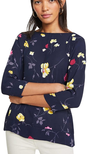 Preload https://img-static.tradesy.com/item/24834842/ann-taylor-night-sky-floral-tipped-mixed-media-blouse-size-10-m-0-1-650-650.jpg