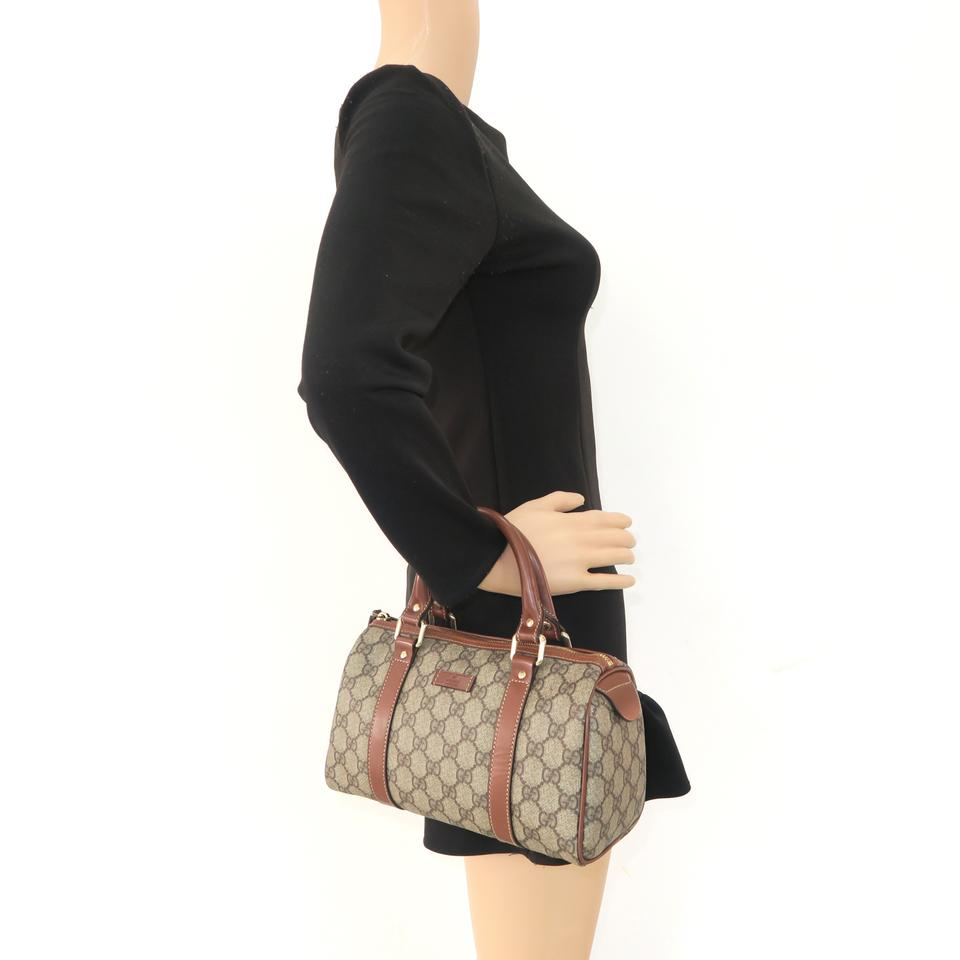 a101e5e92223 Gucci Boston Gg Canvas Tote in Brown Image 11. 123456789101112