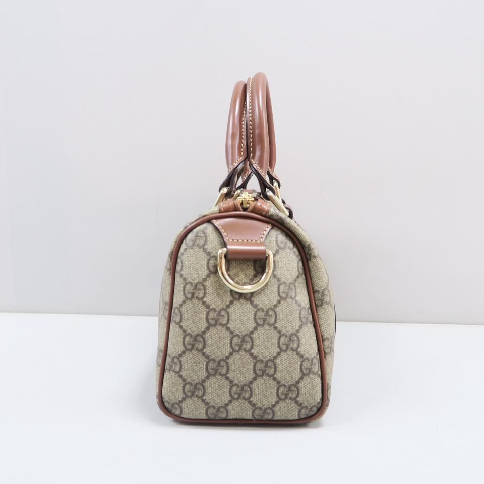 5ee8f8968a84 Gucci Boston Gg Small Brown Canvas Tote - Tradesy