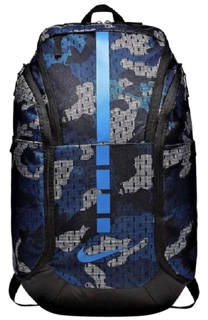 Item - Hoops Elite Pro Graphic 2.0 Camo Max Air Unisex Blue/Black Blue/Black/Gray Polyester Backpack